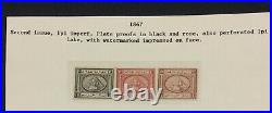 MOMEN EGYPT 1867 1pi 2nd ISSUE IMPERF PLATE PROOFS LOT #61015