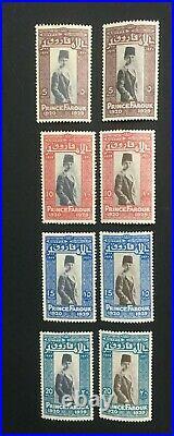 MOMEN EGYPT C29c-C32c 1929 TRIAL COLOR MINT OG NH IN BROWN OR BLACK LOT #61003