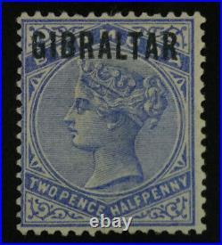 MOMEN GIBRALTAR SG #4a 1886 BLUE BLACK OVPT UNUSED £500 LOT #62427