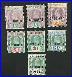 MOMEN HONDURAS SG #87s-93s 1904-07 SPECIMEN MINT OG H LOT #191590-299