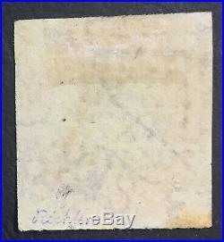 MOMEN INDIA 4ana 1854-1855 IMPERF USED XF LOT #60830