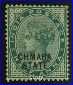 MOMEN INDIA CHAMBA SG #1a CHMABA 1887-95 MINT OG H £900 LOT #63413