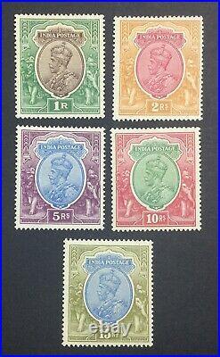 MOMEN INDIA SG #214-218w 1926-33 MINT OG H LOT #60852