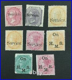 MOMEN INDIA SG #O5,8,26-7,30,33a, O34-5 MINT OG H LOT #193898-2436