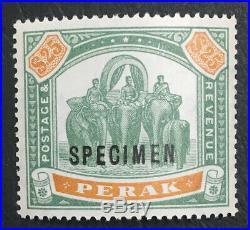 MOMEN MALAYA PERAK SG #80s SPECIMEN MINT OG NH LOT #60836