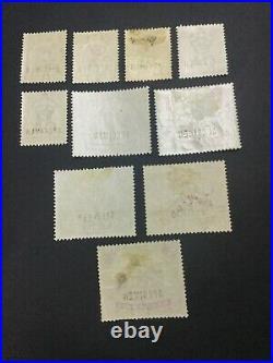 MOMEN MALAYA SELANGOR SG #54s, 56s-65s 1895-99 SPECIMEN MINT OG H/NH LOT #60895