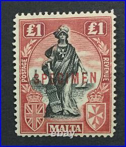 MOMEN MALTA SG #139s SPECIMEN MINT OG H LOT #191525-487
