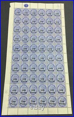 MOMEN MALTA SG #36,36b 1902 PNNEY SHEET MINT OG 59NH/1H LOT #226428-6271