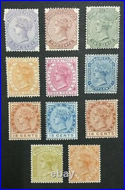 MOMEN MAURITIUS SG #101-111 1883-94 MINT OG H/1NG(2c) LOT #194539-2942