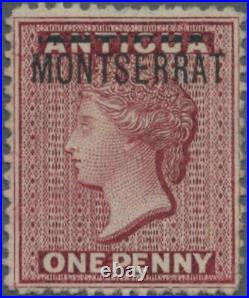 MOMEN MONTSERRAT SG #1b 1876 INVERTED S UNUSED CERT LOT #60685