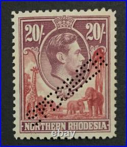 MOMEN NORTHERN RHODESIA SG #45s 1938 SPECIMEN MINT OG H LOT #191796-576