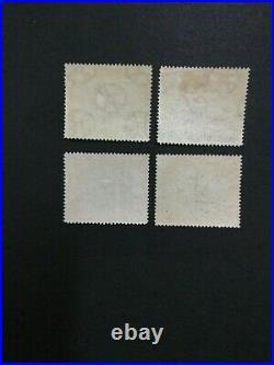 MOMEN PAPUA SG #34a, 35a, 36-7 1907 WMK HORIZ LINE PERF MINT OG H #194730-3101
