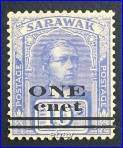 MOMEN SARAWAK SG #72a 1923 CNET FOR CENT MINT OG H £425 LOT #61313