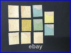 MOMEN SOLOMON ISLANDS SG #8s-17s 1908-11 SPECIMEN MINT OG H LOT #191444-657