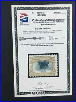 MOMEN US STAMPS #296a INVERTED CENTER RARITY PSE CERT LOT #70876