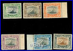 MOMEN ZANZIBAR STAMPS SG #260b-260g 1913 MINT OG H SCARCE LOT #60153