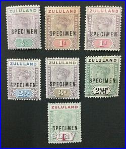MOMEN ZULULAND SG #20s/27s SPECIMEN 1894 MINT OG H LOT #191796-703