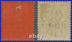 MOMEN ZULULAND SG #27s-28s SPECIMEN 1894-96 MINT OG H LOT #60683