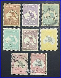Momen Australia Sg #107-114 1929-30 Used Kangaroos Lot #60486