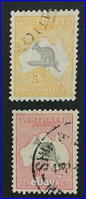 Momen Australia Sg #135-136 Used 1932 Xf Kangaroo Lot #192103-998