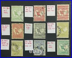 Momen Australia Sg # 1913-14 Inverted Wmks Kangaroo Used £1,100 Lot #60201