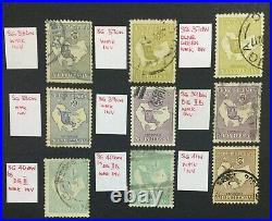 Momen Australia Sg # 1915-27 Inverted Wmks Kangaroo Used £1,405 Lot #60198