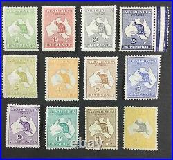 Momen Australia Sg #1-13 1913 Kangaroos Mint Og H £1,380 Lot #62204