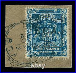 Momen Bca Central Africa Sg #14 1891-5 Used Cert Lot #60118
