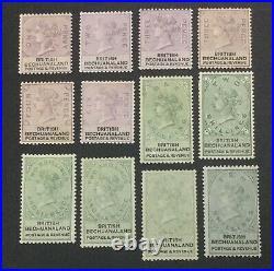 Momen Bechuanaland Sg #10-19 1888 Mint Og H Lot #60926