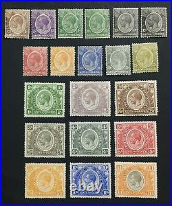 Momen British Kut Sg #76-95 1922-27 Mint Og H Lot #61550