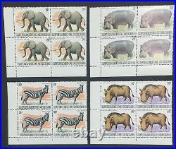 Momen Burundi Sc #589-601 1982 1983 Corner Block Wildlife Mint Og Nh Lot #60810
