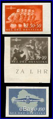 Momen CROATIA Stamps #B73-75 MINT OG NH IMPERF