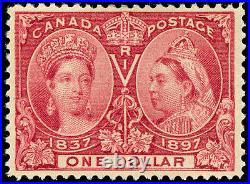 Momen Canada Stamps #61 $1 Jubilee Mint OG VF