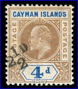 Momen Cayman Islands Sg #35 1908 Mint Og H Bpa Cert Lot #60332