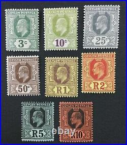 Momen Ceylon Sg #293-300 1910-11 Mint Og H Lot #193171-1599