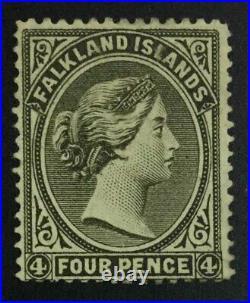 Momen Falkland Islands Sg #10 Papermakers Wmk 1887 Mint Og H £450 Lot #62987