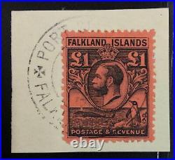 Momen Falkland Islands Sg #126 1929 Used £425 Lot #63020