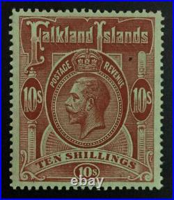 Momen Falkland Islands Sg #68 1914 Mint Og H £190 Lot #63027