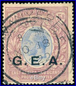 Momen Gea German East Africa Tanganyika Sg #68 1921 Script Ca Used Lot #60017