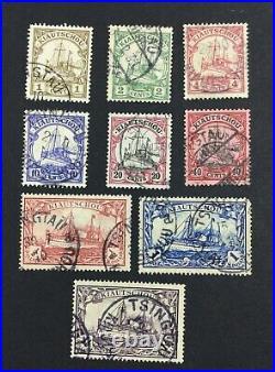 Momen German Colonies Kiautschou Sc #33-41 1905-16 Used $435 Lot #227131-6512