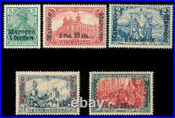 Momen German Colonies Morocco Sc #8d, 16d-19d New Plates Mint Og H Lot #60480