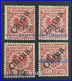 Momen German Colonies Tsingtau China 1900 Mint Og H Lot #62883