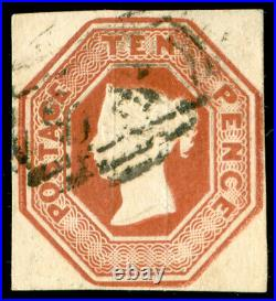 Momen Great Britain Sc #6 Imperf Used Cert Lot #61288