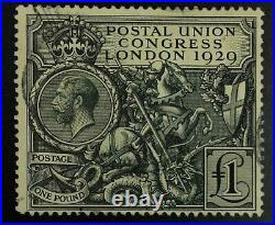 Momen Great Britain Sg #438 1929 Seahorse Used £550 Lot #63179