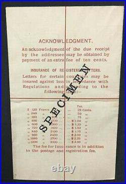 Momen Hong Kong Kgv Specimen Registered Letter Lot #199911-7076