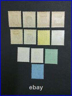 Momen Hong Kong Sg #1-13 1917-21 China Mult Crown Ca Mint Og Nh #203628-9682