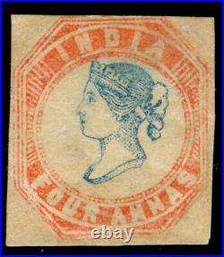 Momen India 4 Anna Imperf Unused Head Die III Frame Die II Lot #61350