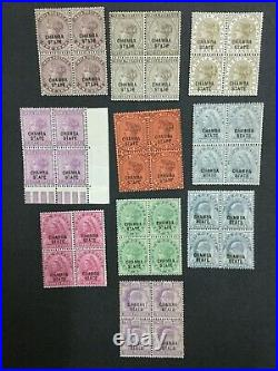 Momen India Chamba Sg # 19 Blocks Mint Og Nh Lot #198489-6046