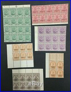 Momen India Chamba Sg # 21 Blocks Mint Og Nh Lot #198489-6044