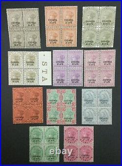 Momen India Chamba Sg #4,9-10,12-14-6,18,23-4,26 Blks Mint Og 38nh #193643-2363
